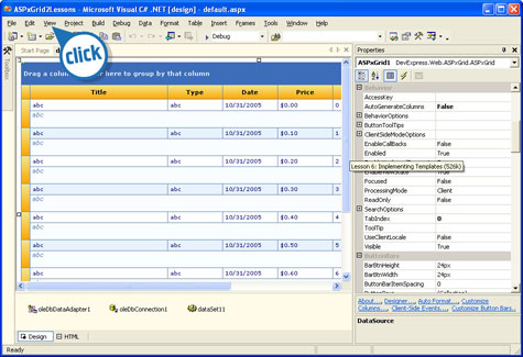 templates asp net ajax navigation bar control demo devexpress