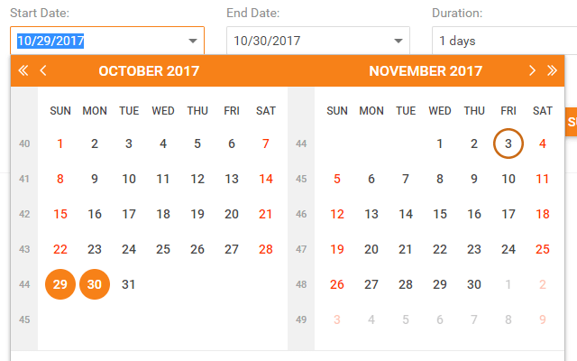 Date Edit in Date Range mode
