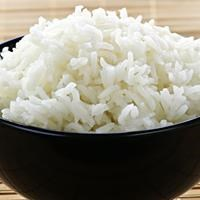 White steamed rice